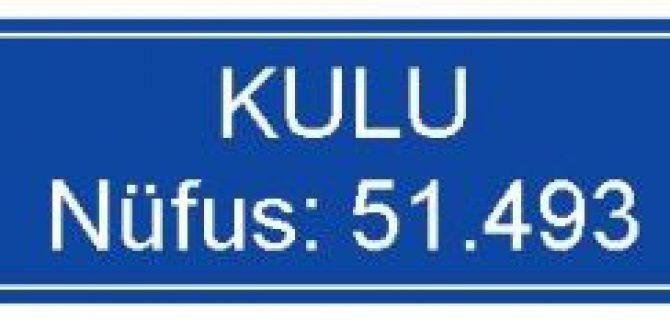 Konya KULU Nüfus: 51.493 Oldu
